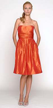 Mandarin Orange Silk Taffeta