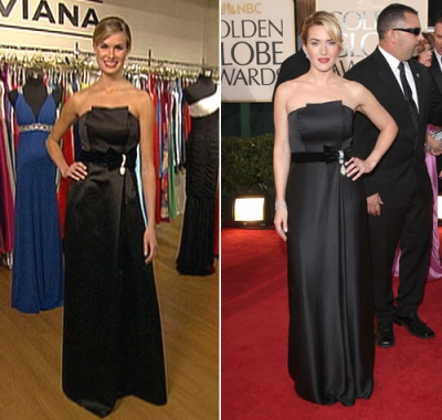 Kate Winslet's replica Faviana dress