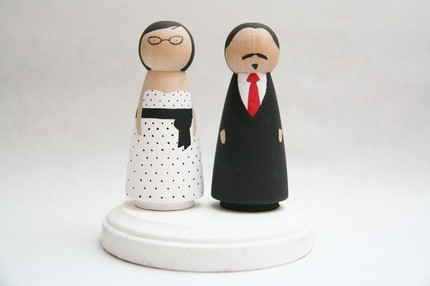 Custom Cake Toppers from Goose Grease $60