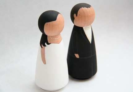 Custom Wedding Cake toppers from Goose Grease $50