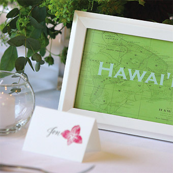 DIY Map Table Numbers- Photo Courtesy of Brides.com