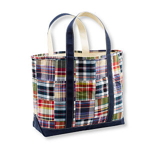 Patchwork Madras Tote $19.99-$29.99 L.L. Bean