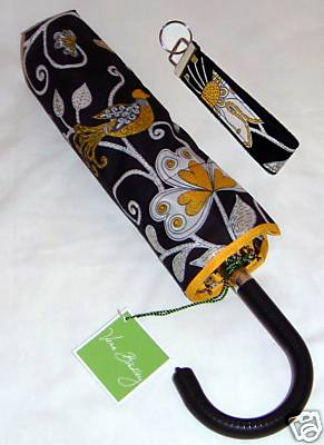 Vera Bradley Yellow Bird Umbrella & Keychain