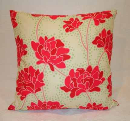 Pop Garden Peonies Pillow- 16 inch $16