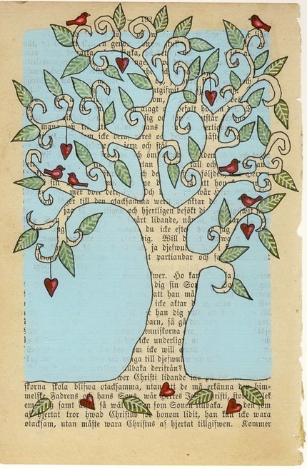 Love Tree 2 Limited Edition- Carambatack Design- Etsy Seller $22