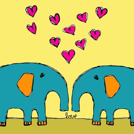 Elephant Love- JulieAnna Etsy Seller $15