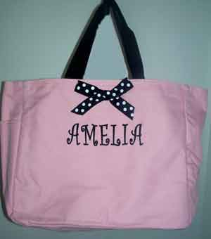 Monogrammed Bridesmaid Tote- $28 The Unique Wedding Boutique