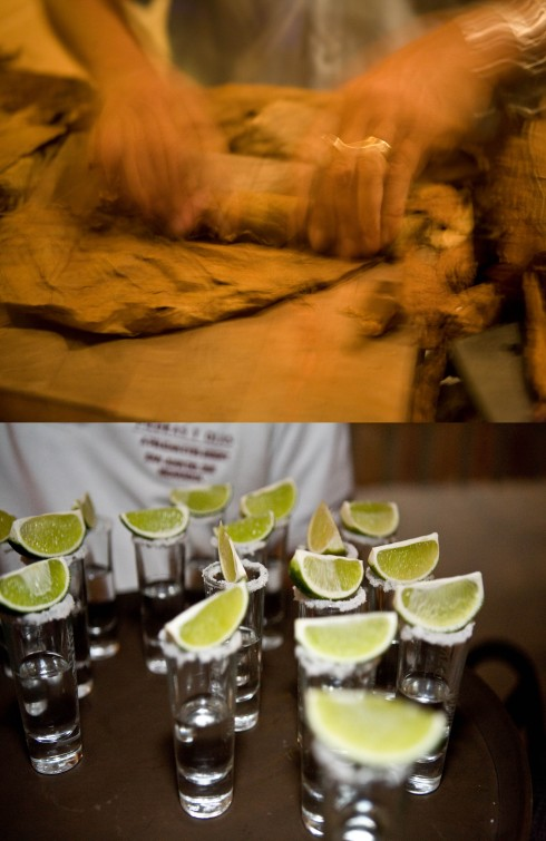 Cigar Rolling and Tequila Shots