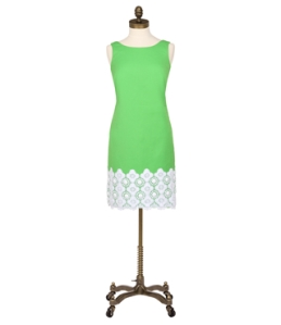 Fitch Shift Dress in Grasshopper Green $348