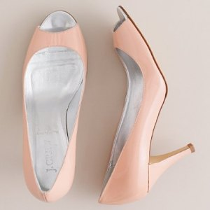 Joley Patent Leather Peep Toe $198 J.Crew