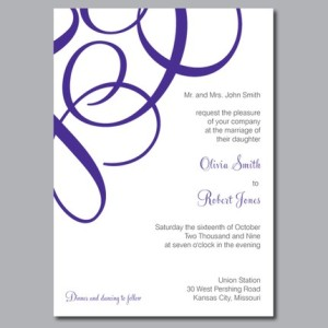 Olivia Custom Wedding Invitation