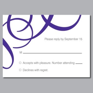 Olivia Custom Wedding Reply Card