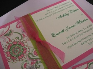 Summer Fever Invitation from Custom Creations (Etsy)