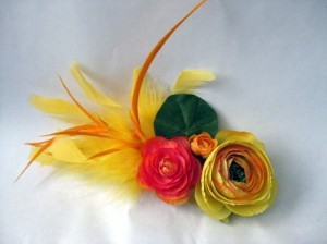 Afternoon Delight Fascinator from Jenn A Say (Etsy) $24