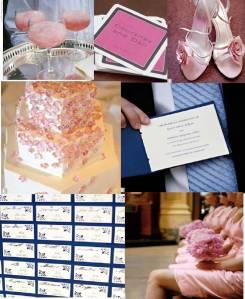 Pink, Navy & White
