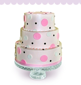 Polka Dot Wedding Cake- Purple Awning Pastries