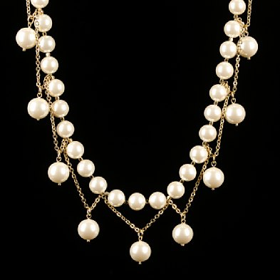 Dangling Pearl Necklace - J.Crew $68