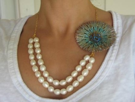 Benedikta Pearl Vintage Inspired Necklace $75- Kate Gray Designs (Etsy)