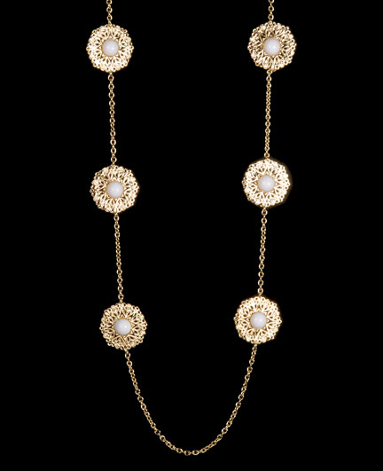 Chain Necklace with Center Bead Medallion South Moon Under $38