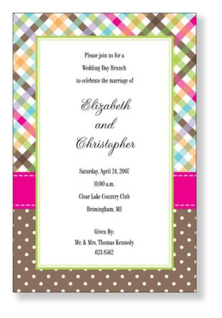 Preppy Gingham, Plaid and Polka Dot Invitation by Polka Dot Paper Shop