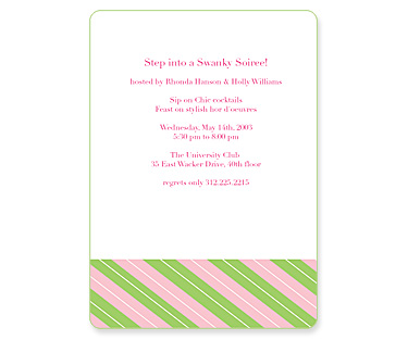 Preppy Stripe Invitation from MyGatsby.com