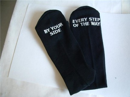 Father of the Bride Socks by Erin Borges $30