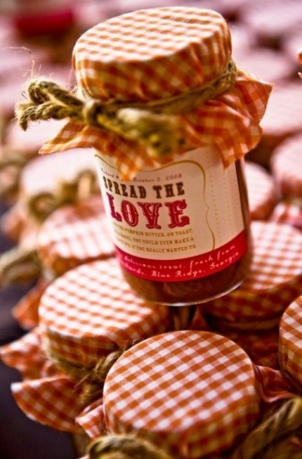 "Custom ""Spread the Love"" labels 12 for $15 from Miss Pickles Press"