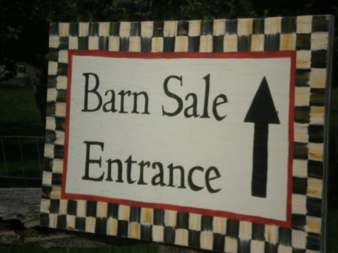 Barn Sale Entrance