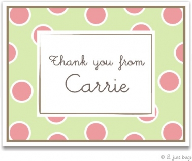 Preppy Polka Dot Thank You from Dainty Invites