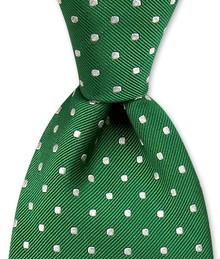 Polka Dot Woven Tie $85