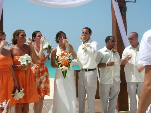 The bridal party...