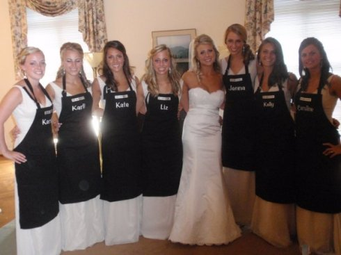 Monogrammed Maid Aprons...