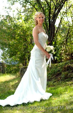 The blushing bride...