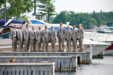 Groomsmen on Pier