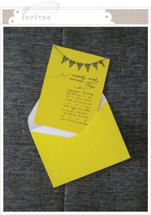 Moody Mod Tea Time Invitations