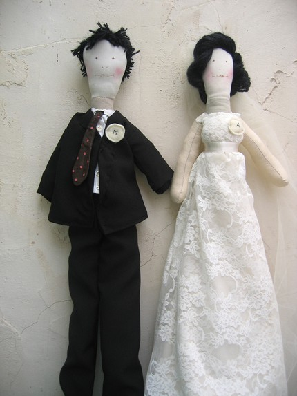 Custom Made Bride & Groom Dolls by Green Man Shop $85 on Etsy