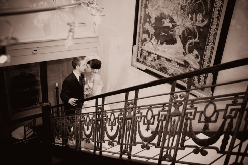 Love on a staircase...