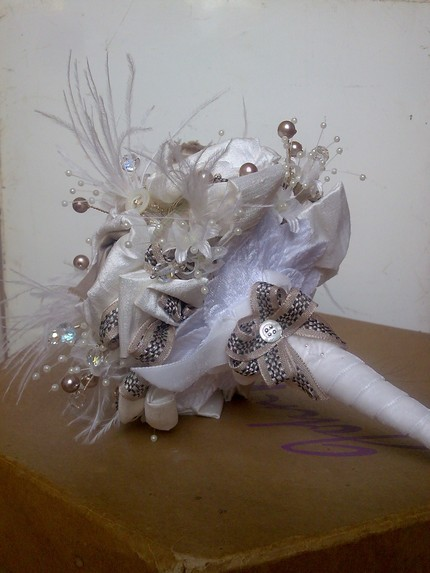 Ivory and Mink Vintaage Bouquet $210 from Vintage Magpie- Etsy