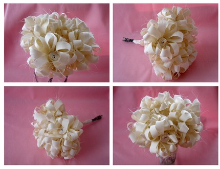 Ivory Bridesmaid Bouquet $38 from the Oh So Shabby Collection of Kreated by Kelly- Etsy