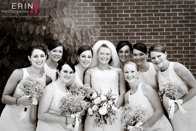 Rebekah with her bridesmaids...