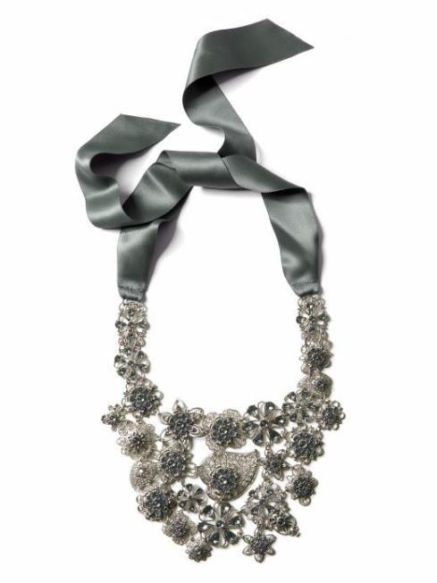Floral Grid Necklace $125- Banana Republic