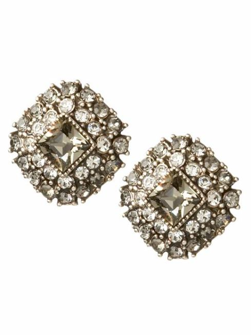 Jeweled Button Earrings $26- Banana Republic