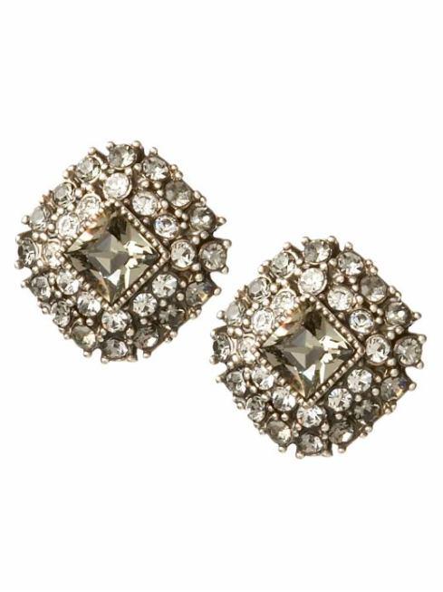 Jeweled Button Earrings $26- Banana Republic