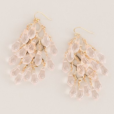 Crystal Waterfall Earrings $55- J.Crew