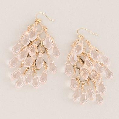 Crystal Waterfall Earrings $55- J.Crew