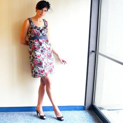 Wine & Roses Pleated Dress $235 from Amanda Archer- Etsy