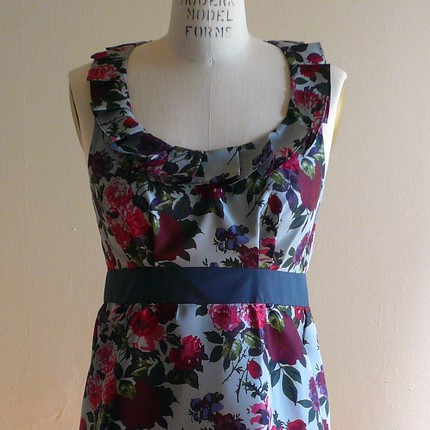 Wine & Roses Pleated Dress $235 from Amanda Archer- Etsy